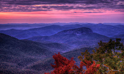 Looking Glass Rock Cloudy Day Sunrise Art Poster