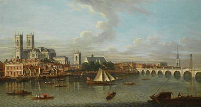 Looking North From Lambeth To Westminster Abbey And The Tower Of Saint Margaret Poster
