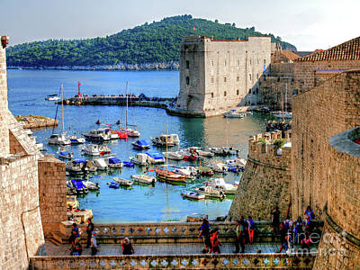 Looking Out Onto Dubrovnik Harbour Poster