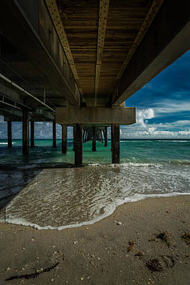 Looking Under The Pier Poster
