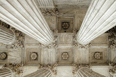 Looking Up At The Supreme Court Poster by Andrew Soundarajan
