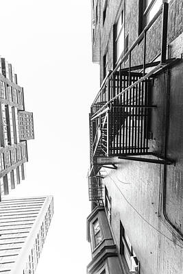 Looking Up Fire Escape Nyc 2 Poster