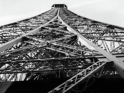 Looking Up From The Eiffel Tower Poster