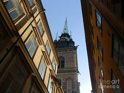 Looking Up From A Stockholm Street Poster