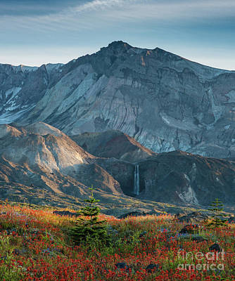 Loowit Falls Mount St Helens Poster by Mike Reid