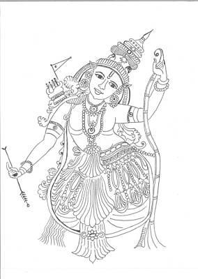 Lord Rama  Poster by Chitra Pandalai