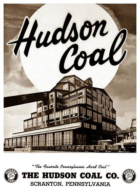 Loree Colliery Larksville Pa. Hudson Coal Co  Poster