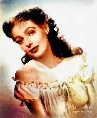 Loretta Young, Vintage Hollywood Actress Poster by Frank Falcon