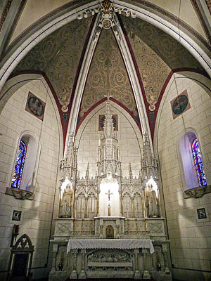 Poster featuring the photograph Loretto Chapel Santa Fe by Kurt Van Wagner