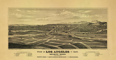 Los Angeles 1877 Poster by Mountain Dreams