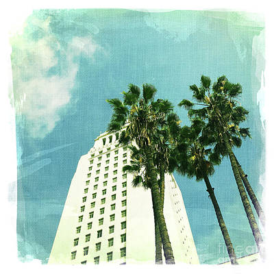 Los Angeles City Hall 2 Poster by Nina Prommer