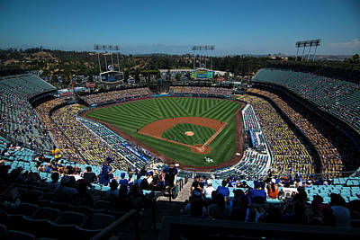Poster featuring the photograph Los Angeles Dodgers Dodgers Stadium Baseball 2043 by David Haskett