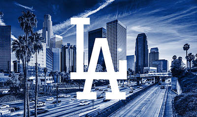 Los Angeles Dodgers Mlb Baseball Poster by Nicholas Legault