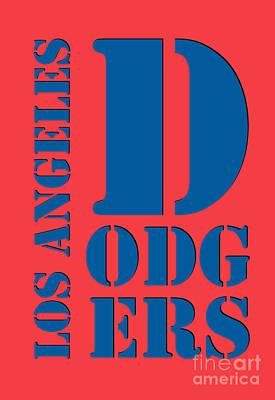 Los Angeles Dodgers Typography Orange Poster