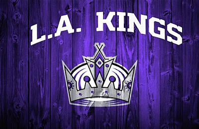 Los Angeles Kings Barn Door Poster by Dan Sproul