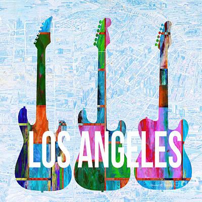 Los Angeles Music Scene Poster by Edward Fielding