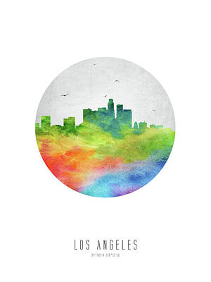 Los Angeles Skyline Uscala20 Poster by Aged Pixel