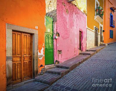 Los Colores De Guanajuato Poster by Inge Johnsson