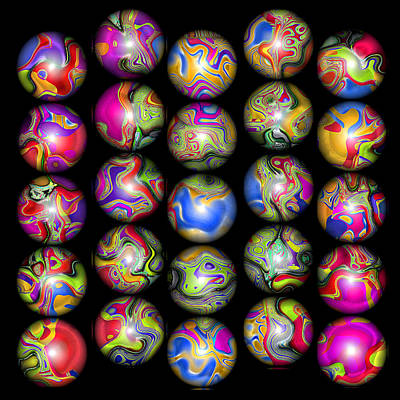 Lost My Marbles 2 Poster by Wendy J St Christopher