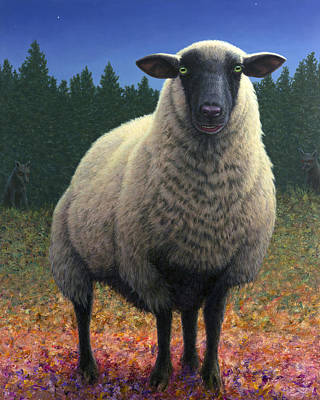 Lost Sheep Poster by James W Johnson