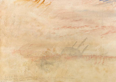 Lost To All Hope The Brig Poster by Joseph Mallord William Turner