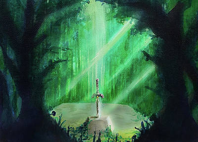 Lost Woods Master Sword Poster by Ivan Florentino Ramirez