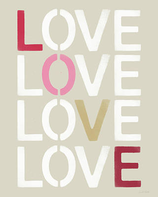 Lots Of Love- Art By Linda Woods Poster by Linda Woods
