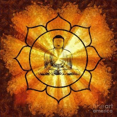 Lotus Buddha By Sarah Kirk Poster by Sarah Kirk