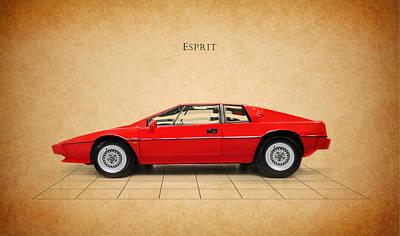 Lotus Esprit Poster by Mark Rogan