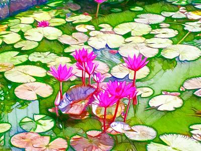 Lotus Flower 3 Poster by Lanjee Chee