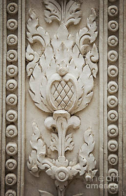 Lotus Flower Carving Poster by Sophie McAulay