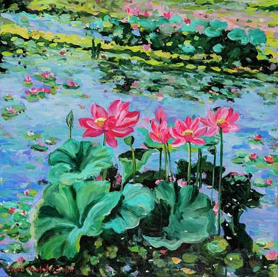 Lotus Poster by Alexandra Maria Ethlyn Cheshire