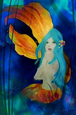 Lotus Mermaid  Poster by ARTography by Pamela Smale Williams