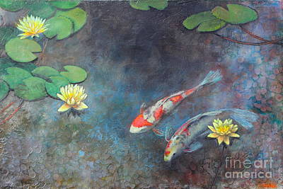 Lotus Pool Poster by Lori McNee