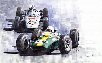 Lotus Vs Honda Mexican Gp 1965 Poster by Yuriy  Shevchuk