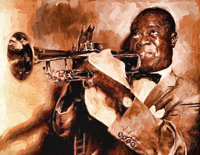 Louis Armstrong Poster by Louis Ferreira