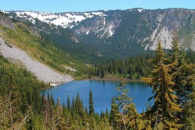 Louise Lake Mt. Rainier Washington Poster by Dan Sproul