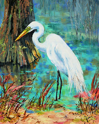 Louisiana Male Egret Poster by Dianne Parks