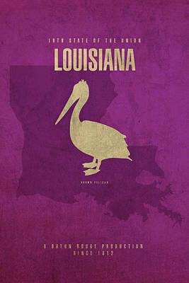 Louisiana State Facts Minimalist Movie Poster Art Poster