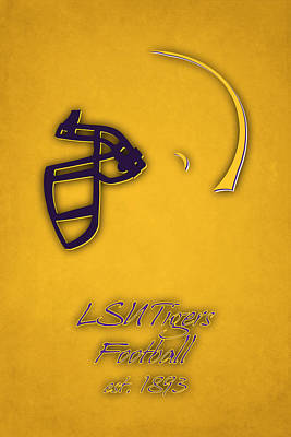 Louisiana State Tigers Helmet 2 Poster by Joe Hamilton