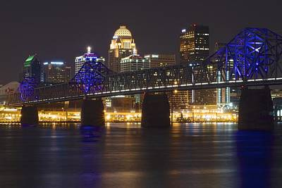 Louisville From Indiana Poster by Frozen in Time Fine Art Photography
