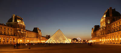 Poster featuring the photograph Louvre At Night 2 by Andrew Fare