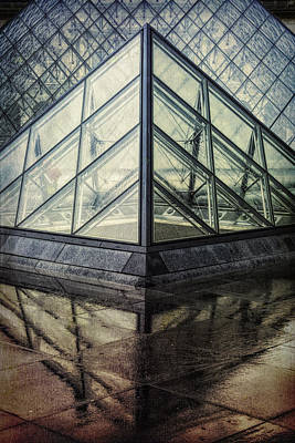 Louvre Pyramids Paris II Poster by Joan Carroll