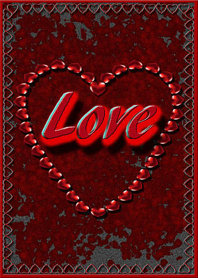 Poster featuring the digital art Love 101 by Michelle Audas