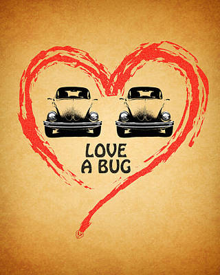 Love A Bug Poster by Mark Rogan