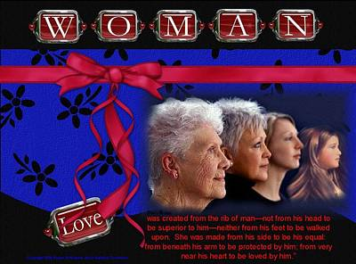 Poster featuring the photograph Love A Woman by Kathy Tarochione