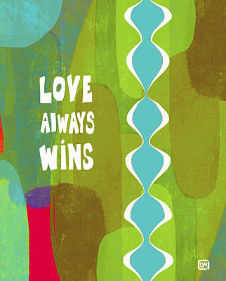 Poster featuring the painting Love Always Wins by Lisa Weedn