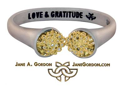 Love And Gratitude Overflowing Diamond Bowls Poster by Jane A  Gordon