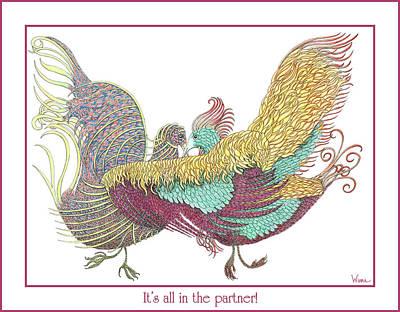 Love Birds Dancing Poster