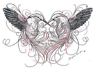 Love Birds Poster by Dwayne Hamilton